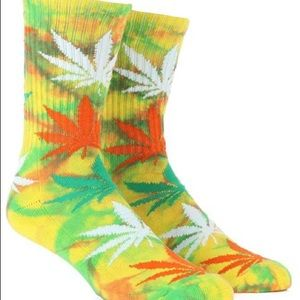 HUF Accessories - 2 Pair Huf Plant Strains Socks - New With Tags